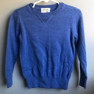 CREW CUTS Blue toddler sweater